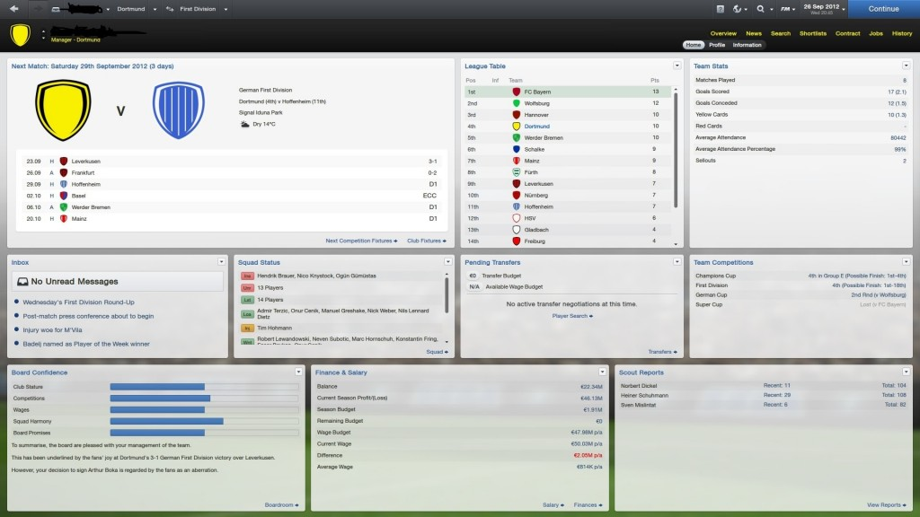 Football Manager 2013 2 1024x576 Football Manager 2013:Top
