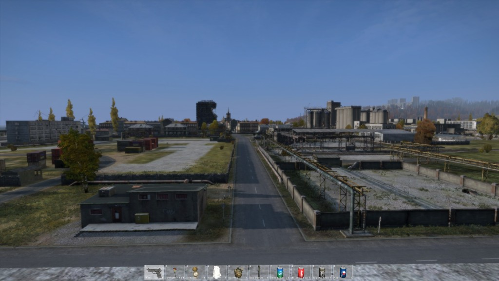 Ein Blick vom Dach der Fabrikhalle im Osten Chernos aus auf die Stadt.