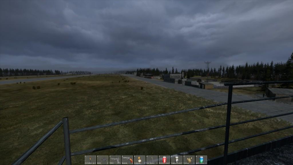 Das Airfield. So weit das Auge blickt.