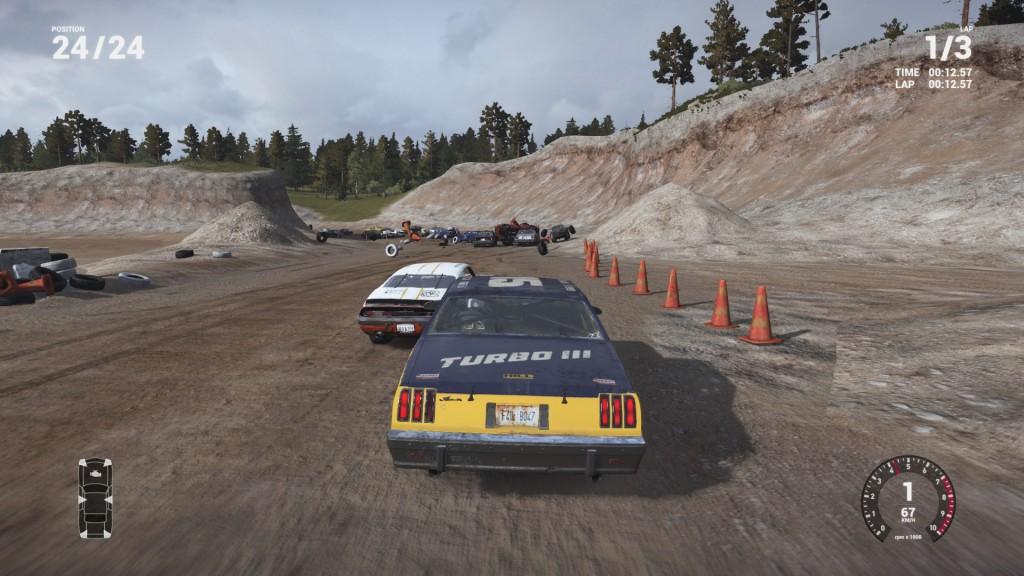 Kollision auf 12 Uhr! So schaut es im Rennen beim Next Car Game aus.