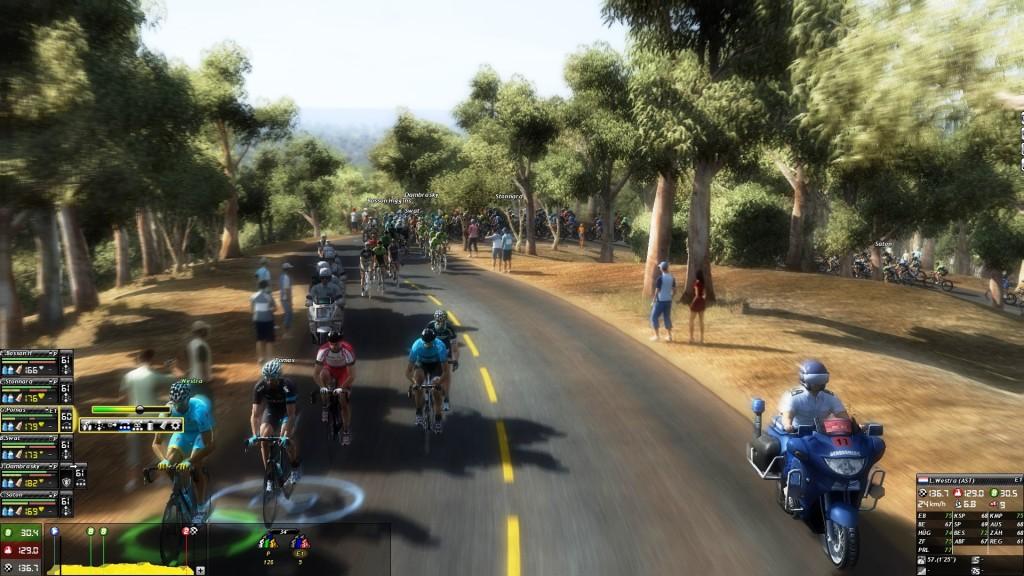 Das UI ist in den Rennen selbst beim Pro Cycling Manager 2014 weiterhin suboptimal. Die Leiste rechts, kaum zu erkennen, dient den Basiseinstellungen und nervt durch unnötige Frickeleien. Wohl dem, der seinen Monitor sauber kalibriert hat!
