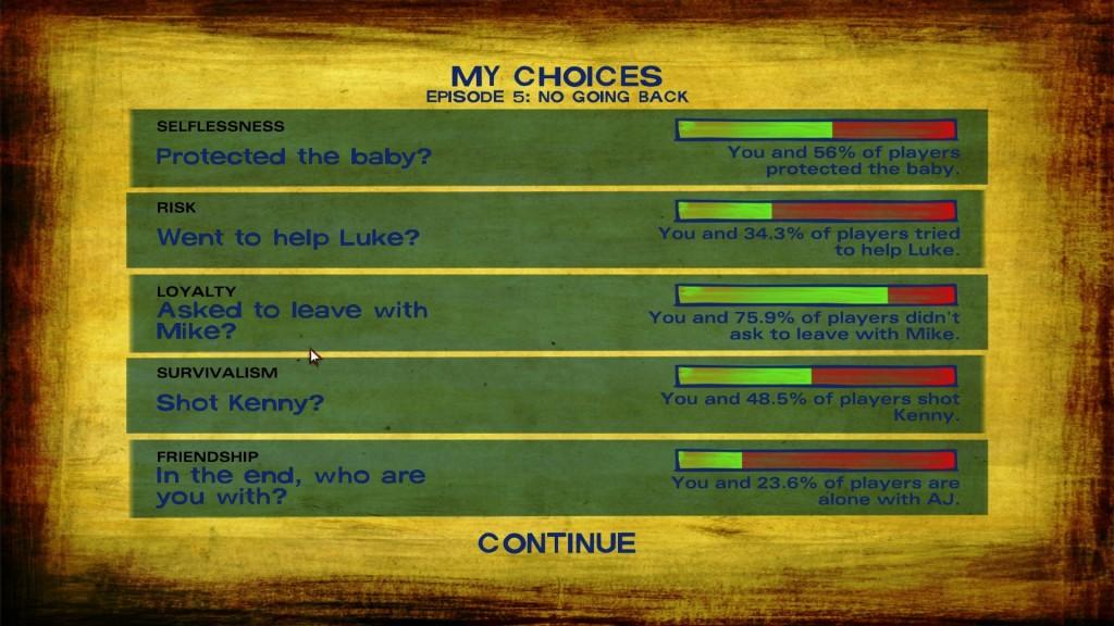 The Walking Dead Season 2 Entscheidungen
