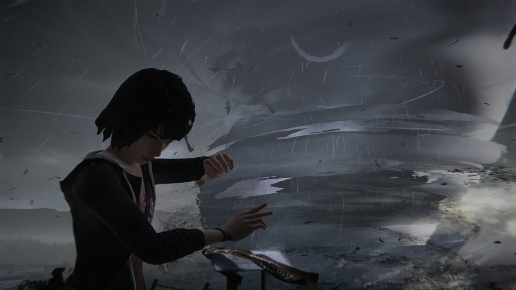 Dramatisch, dramatisch. Max befindet sich in Life Is Strange zu Beginn einem stürmischen Raum-Zeit-Kontinuum.