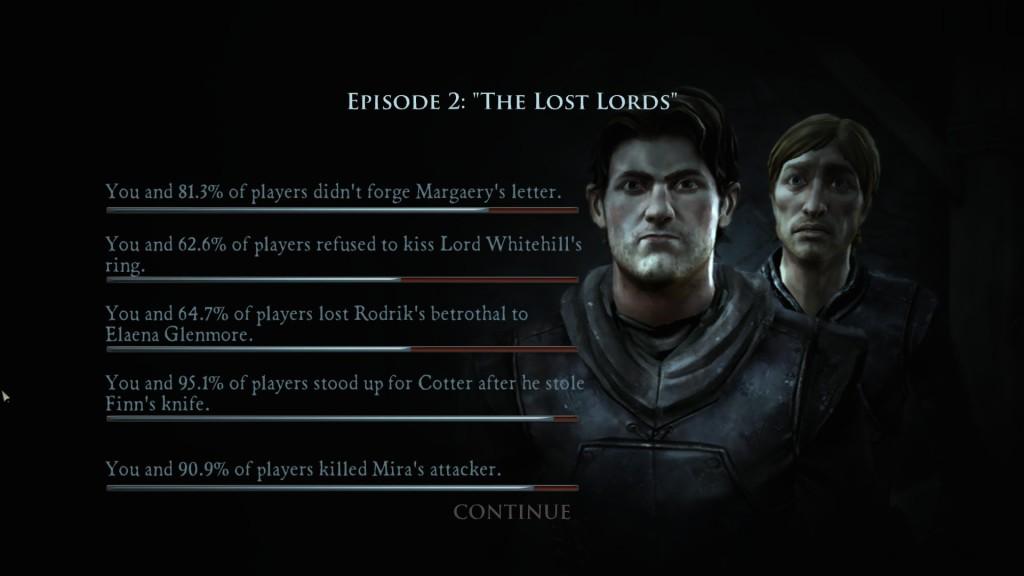 Game of Thrones Episode 2 Entscheidungen