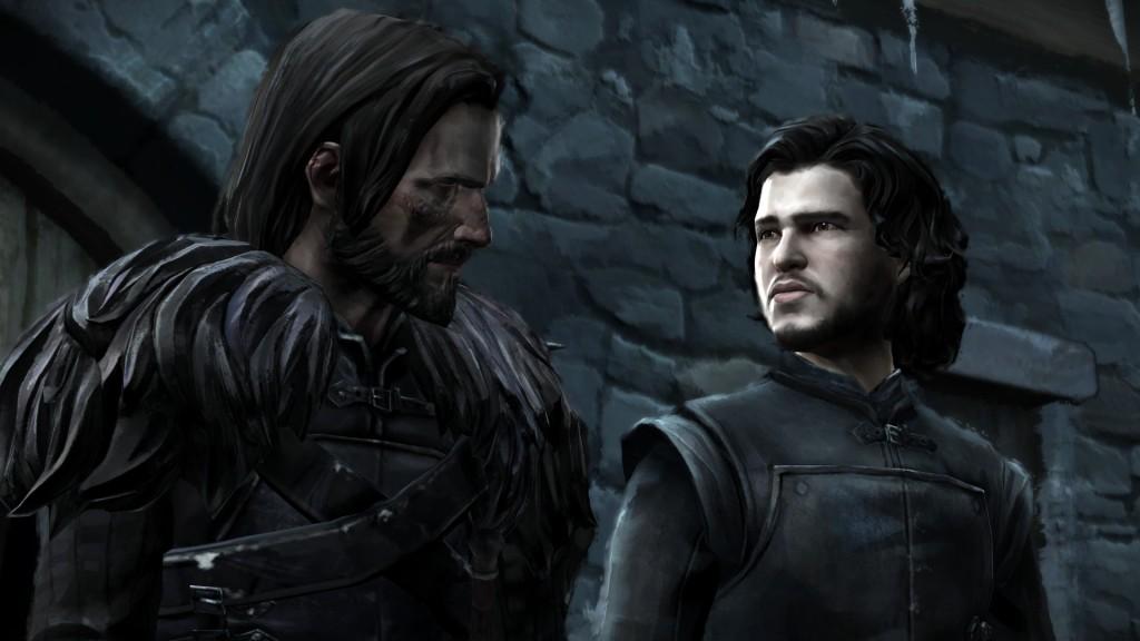 Ein altbekanntes Gesicht. Jon Snow im Plausch mit Frostfinger.