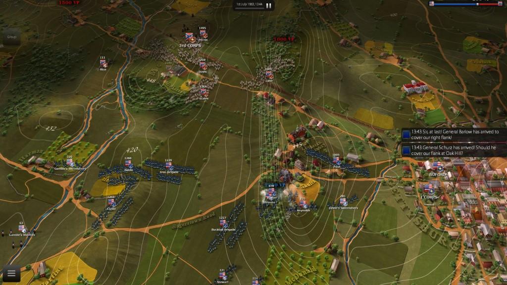 Meine Überraschung im Februar: Das bereits 2014 erschienene Ultimate General: Gettysburg.