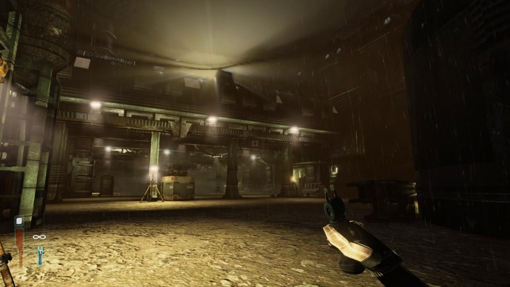 Neben den klaustrophobischen Stationspassagen besteht die Spielwelt von Solarix aus größeren Arealen, die ein gewisse Freiheit zulassen.