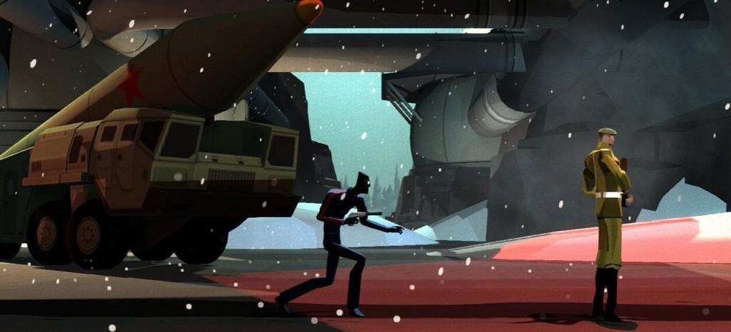 Auf dem Weg zum lautlosen Kill (in der Vita-Version von Counterspy).