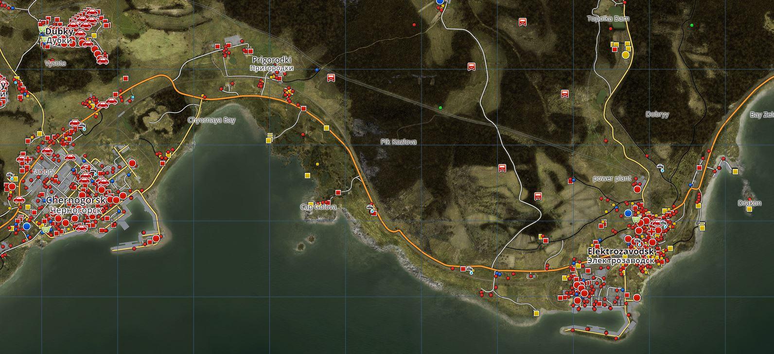 map dayz elektro - GameExperience Dayz Map on
