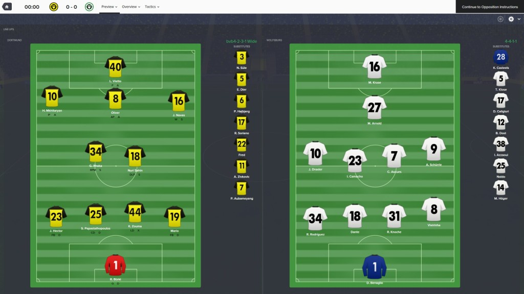 Football Manager 16 Aufstellung